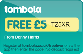 tombola free fiver with codeTZ5XR