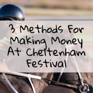how to make money from cheltenham festival free bet offers blog post featured image with a picture of a jockey racing on a horse