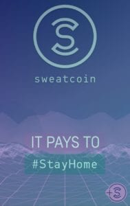 sweatcoin pays to stay at home screenshot